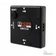 Adaptador Chaveador Mini Switch Hdmi 4 Portas